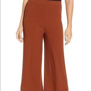 Nordstrom Pants - All in Favor Ribbed Crop Wide Leg Pants